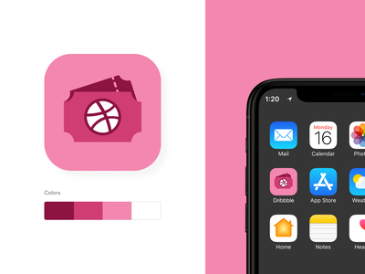 Dribbble Invite Icon flaticon dribbbleinvite dribbleicon icon app concept design ui