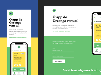 Greengo Dictionary – Landing Page ui design yellow green landingpage design ui