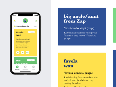 Greengo Dictionary – App uiux ux flatui mobileapp dictionaryapp dictionary app design ui