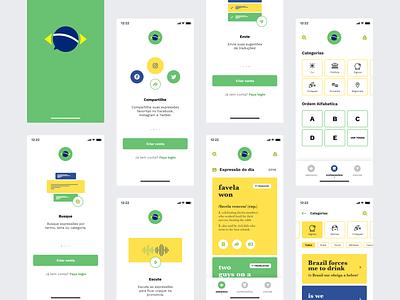 Greengo Dictionary – App mobileappdesign brasil mobileapp ux app design ui