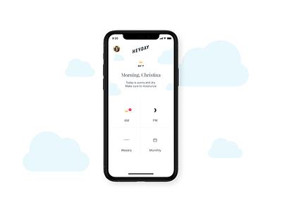 Heyday – Mobile App skincare mobileapp app concept design ui