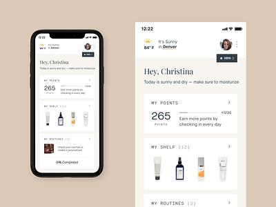 Heyday – Mobile App beautyapp skincareapp skincare beauty sprintdesign app icon concept design ui