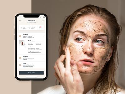 Heyday – Mobile App skincare beautyapp beauty ux app concept design ui