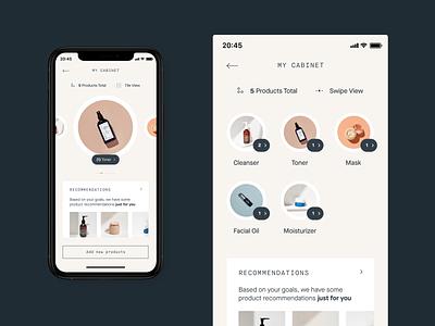 Heyday – Mobile App beautyapp beauty skincareapp skincare mobileapp app concept design ui
