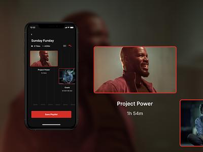Netflix Playlist playlist conceptapp netflix app concept design ui