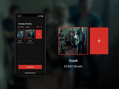 Netflix Playlist movie app playlist movie netflix app concept design ui