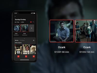 Netflix Playlist playlist netflix movie app concept design ui