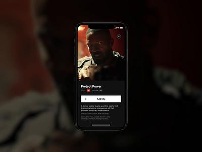 Netflix Playlist – Motion Prototype moviemotion appmotion motion design netflix movie aftereffects prototype motion concept design ui