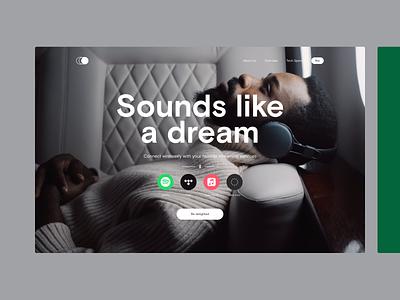 Circle Headphones – Website Concept streaming music landingpage website headphones concept design ui