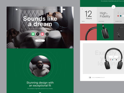Circle Headphones – Website Concept dream headphones landingpage website concept design ui