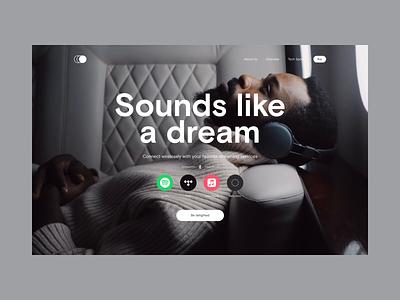 Circle Headphones – Website Concept (Prototype) headphones animatedprototype website music aftereffects prototype concept design ui