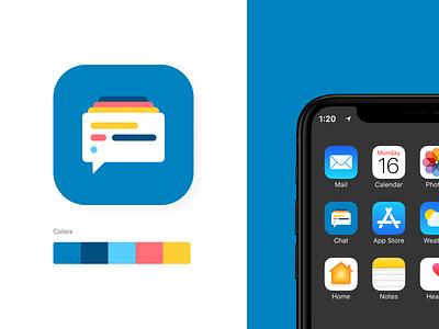 Chat Icon chaticon chat icon app concept design ui