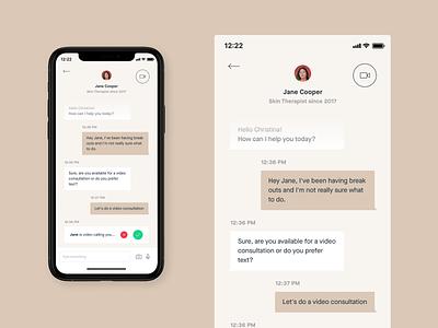 Heyday – Mobile App chatmobile chat mobileapp skincare icon app concept design ui