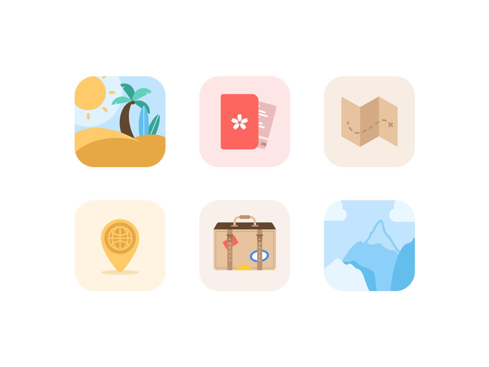 Travel Icon Pack travel illustration icon design ui