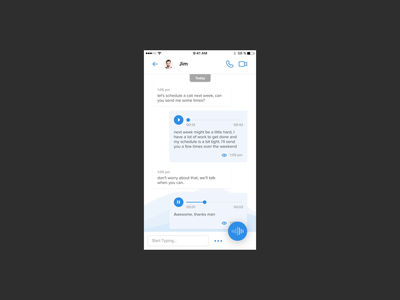 Voice/Message App - Reply with voice aftereffects voice over video animation uidesign design concept app message ux ui voiceapp