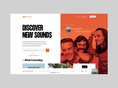 SoundCloud dailyui music landingpage soundcloud concept design ui