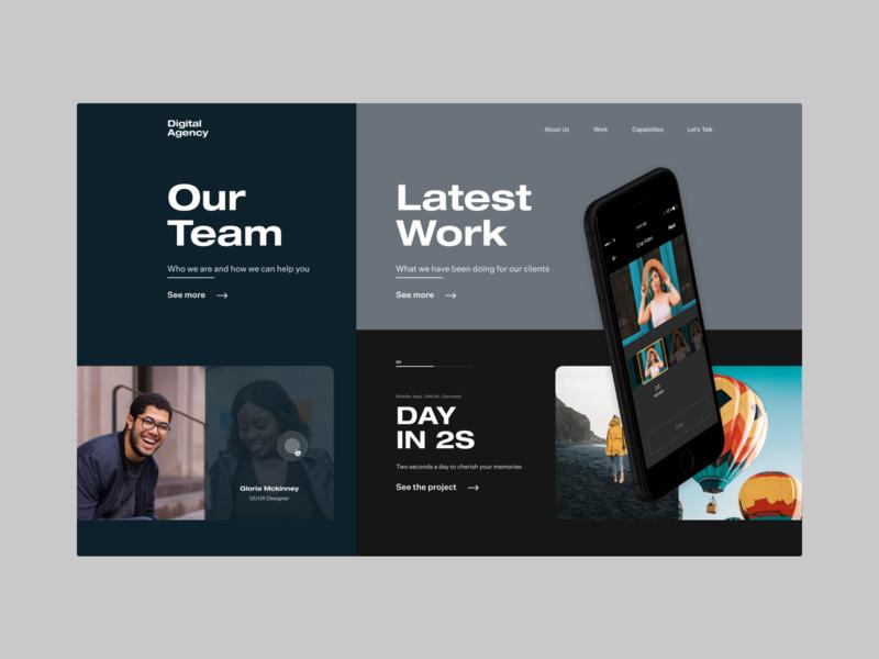 Digital Agency digitalagency landingpage webdesign homepage dailyui concept design ui
