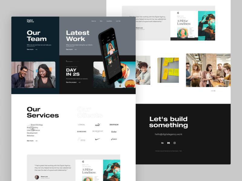 Digital Agency landingpage digitalagency webdesign dailyui concept design ui