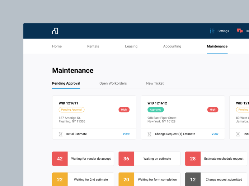 Real Estate – Dashboard dashboard design dashboard realestate concept design ui