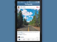 Instagram iOS7 redesign