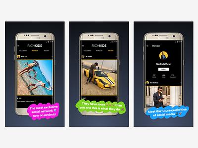 Rich Kids Google Play Store Screenshots google play store playstore