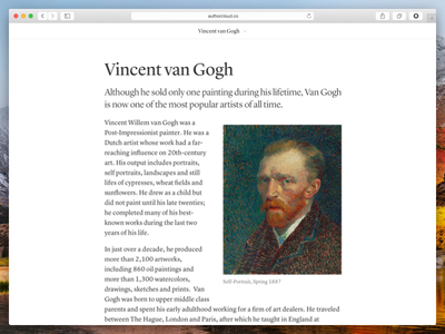 Published document from Author editor lyon typography responsive reading web author