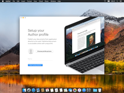 Author editor onboarding onboarding app macos author