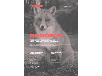 Invoice graphic design invoice fox