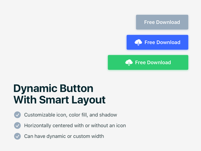 Dynamic button with smart layout for Sketch download free button smart layout sketch