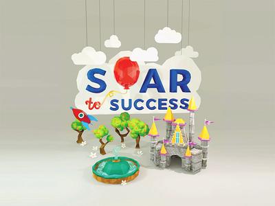 3D Render - Soar To Success