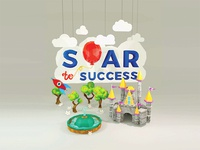 3D Render - Soar To Success