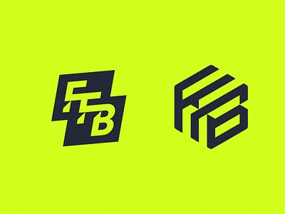 FFB Sports Logo logomark visual brand type type design letters shapes san serif typography visual identity branding monogram graphic design design neon green sports logo design logo