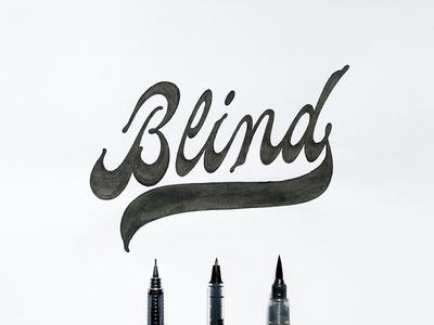 Blind Script brush lettering logo design type type design typography calligraphy lettering brush