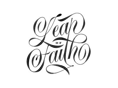 Leap Of Faith lettering artist brush lettering branding logotype vector letters lettering design calligraphy typography script lettering