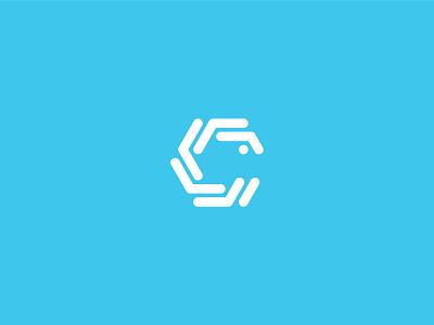 C Letter hexagon c mark c letter c logo icon emblem minimal logo
