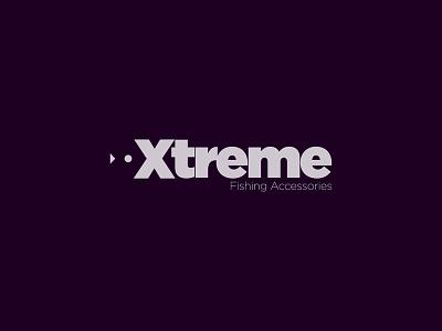 Xtreme - Fishing Accessories fish negativespace fishing creative minimalism minimal design art typography letters emblem logo