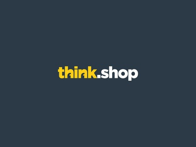 think.shop logo emblem letters typography art design minimal minimalism creative