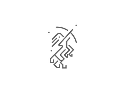 Centaur warrior horse stars logo arrow archer mythology centaur