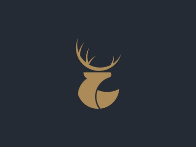 Deer icon camping forest outdoor camp deer logo