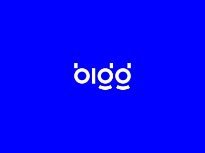 Bigg typography wordmark binary minimal logo currency cryptocurrency crypto