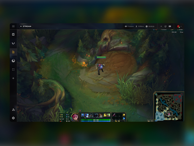 OBS Studio Design Concept youtube twitch league of legends blur background blurry games gaming recording studio experimental software streaming app streaming obs recording minimalistic app clean concept navigation minimalist