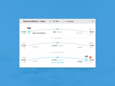 Flight Itinerary widget ui itinerary flight