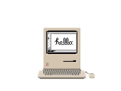 M128k apple mac pixel macintosh