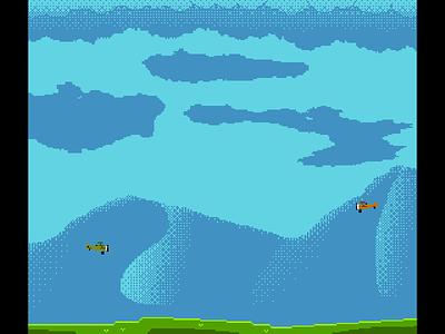 BulletReign WIP nes pixel plane dogfight