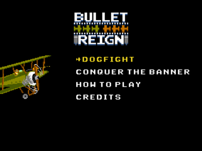 Bulletreign Main Menu (WIP) nes pixel plane dogfight