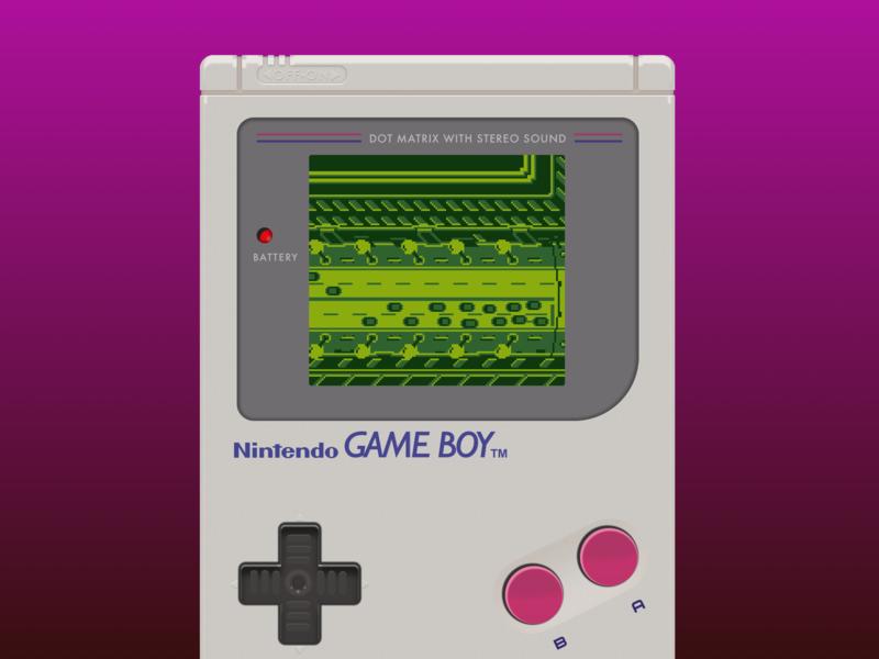 Game Boy detail sketch pixel art nintendo illustration gameboy aseprite