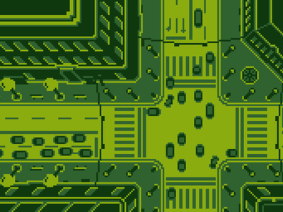 Game Boy Pixelart Detail city pixel art nintendo gameboy aseprite