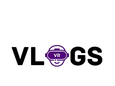 VR VLOGS logo graphic design illustrator icon ux ui vector illustration design logo branding