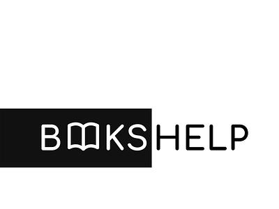 BOOKSHELP logo magbanum minimal web typography logo illustration icon graphic design design branding