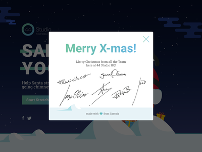 SantaYoga game strech christmas svg css 44studio ui ux yoga santa game